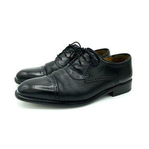 Mezlan Mens Nicola black leather Cap toe